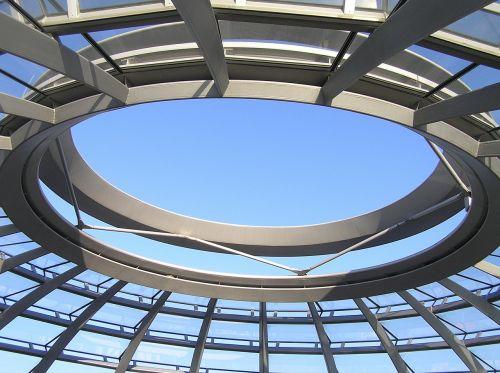 blue roof framework