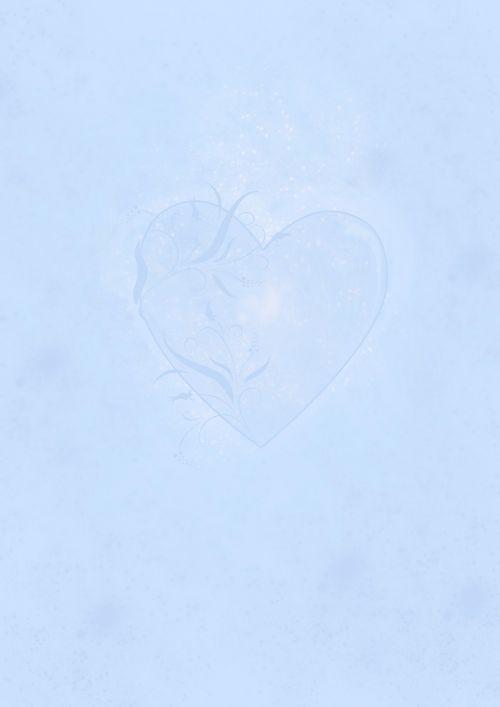 blue stationery heart