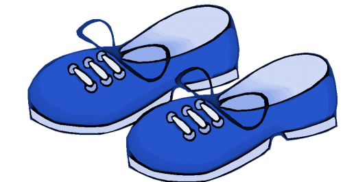 blue shoes kids