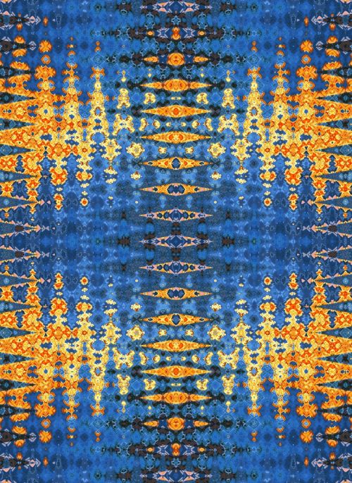 Blue And Gold Repeat Pattern