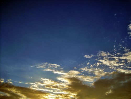 Blue And Gold Sky