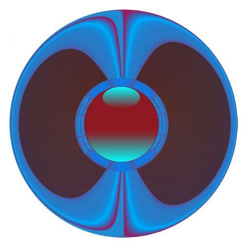 Blue And Purple Glassy Button