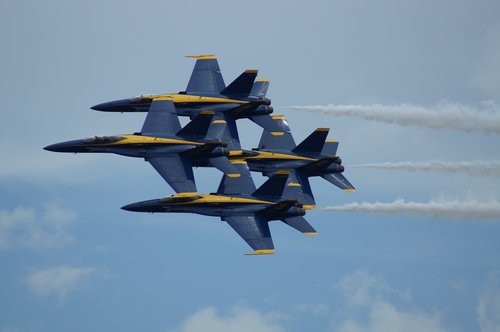 blue angels  aircraft  sky