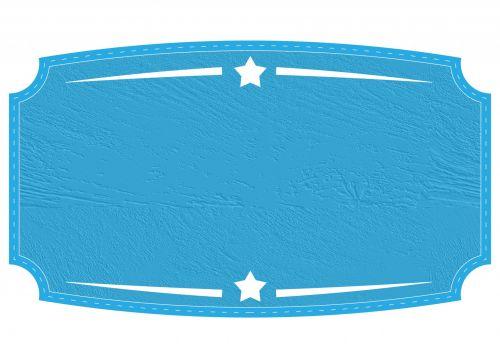 Blue Badge, Label Texture