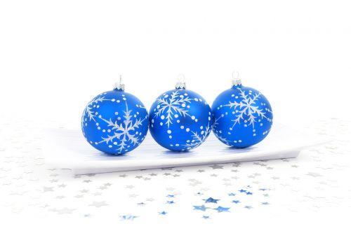 Blue Bauble Decoration
