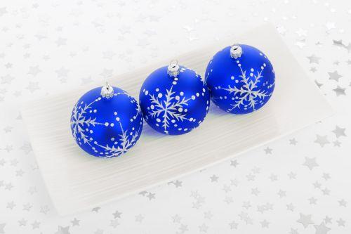 Blue Bauble Decorations