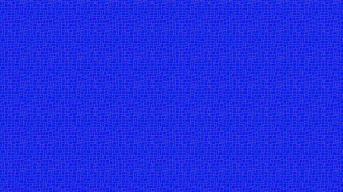 Blue Bold Mosaic Wallpaper