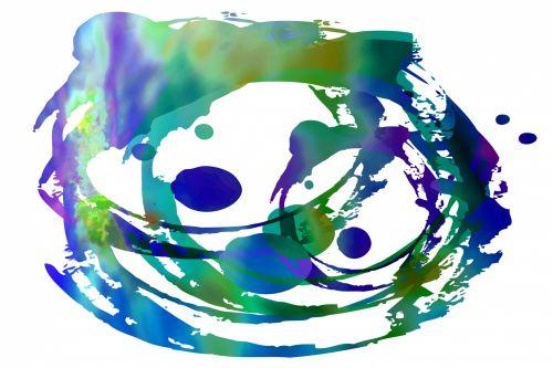 Blue Circular Wave Abstract