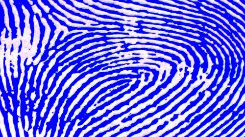 Blue Fingerprint Background