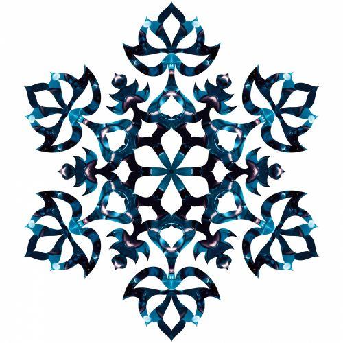 Blue Flake 3