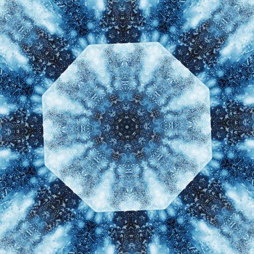 Blue Flake Kaleido