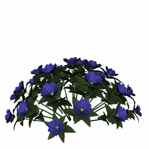 Blue Flower Bunch
