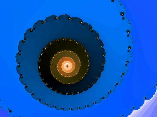 Blue Fractal Helix