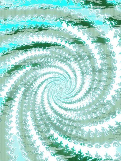 Blue Fractal Spiral