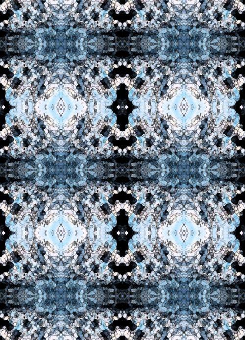 Blue Fresco Pattern