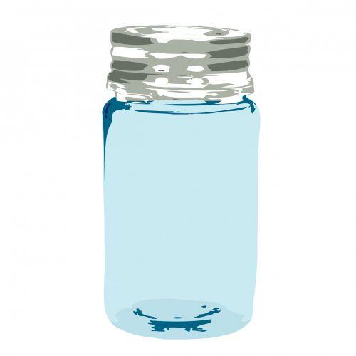 Blue Glass Jar Clipart