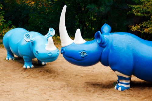 Blue Hippos
