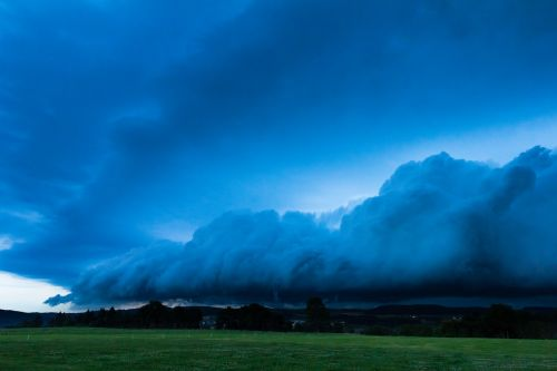 blue hour squall line thundercloud