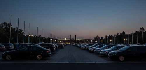 blue hour  parking  olympic stadium