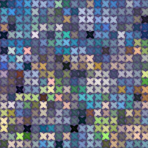 Blue Hues Cross-stitch Background