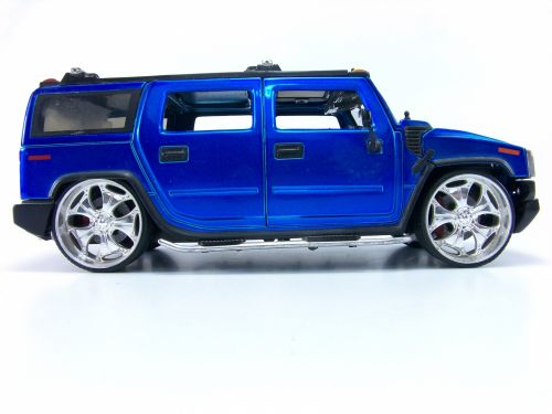 Blue Hummer Toy Truck