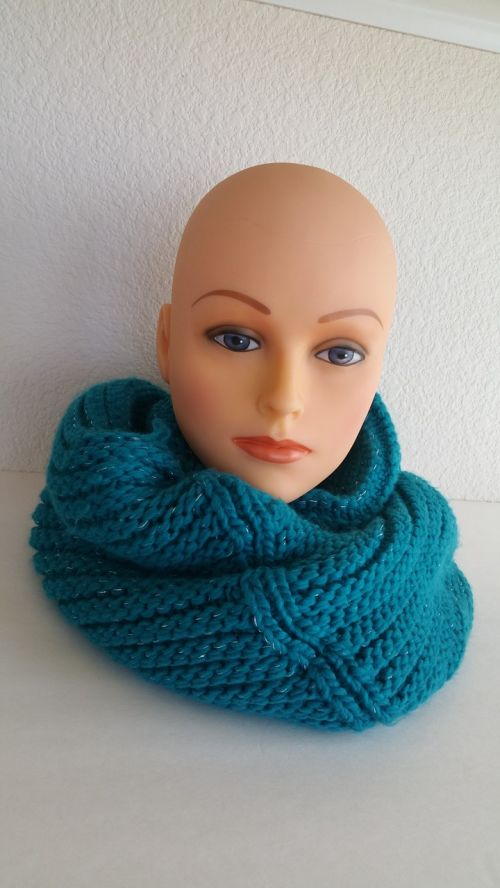 blue infinity knit scarf scarf winter wear