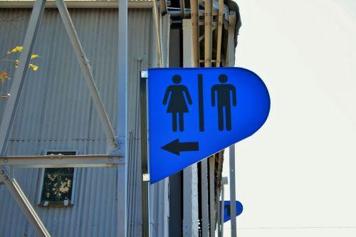Blue Male Female Sign