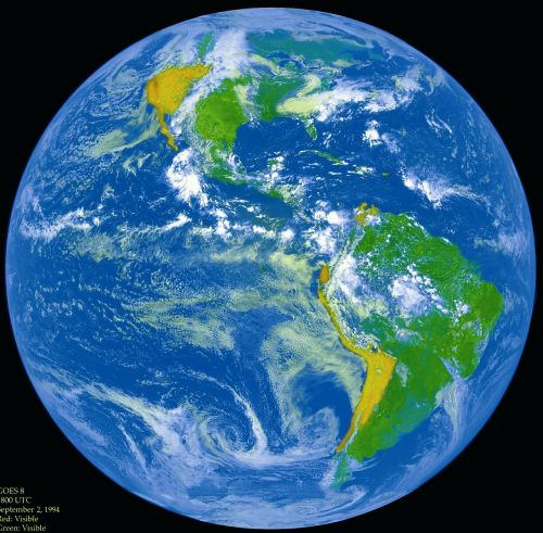 blue marble earth outer space