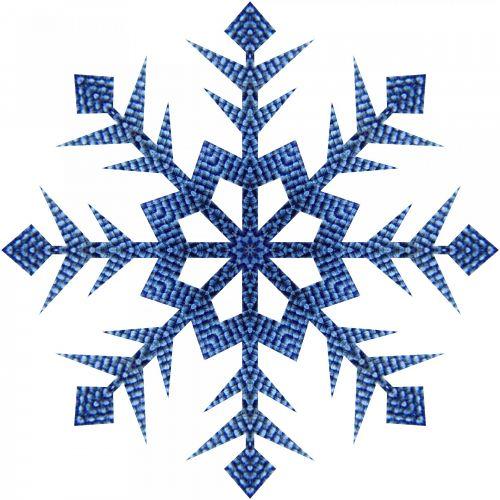 Blue Mesh Snowflake