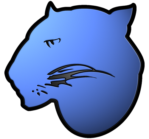 blue panther panther logo panther