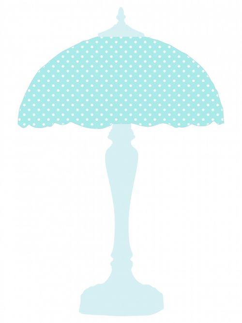 Blue Polka Dots Lamp Shade