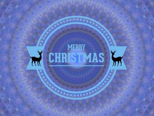 Blue Reindeer Greeting