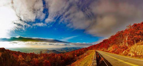 blue ridge mountains sky