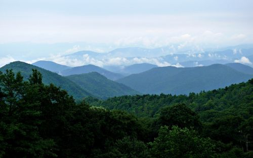 blue ridge mountains blue