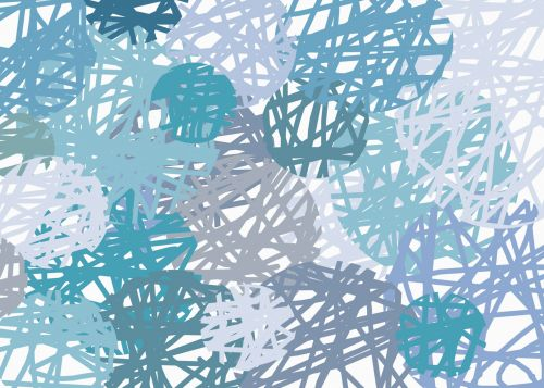 Blue Scribble Circles