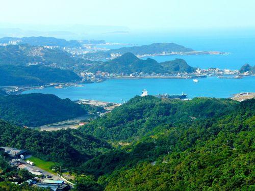 blue sea mountain sea