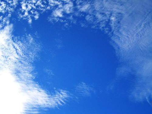 blue sky veil of clouds nature