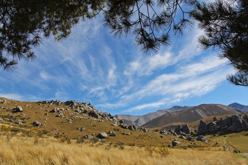 blue sky mountain alps