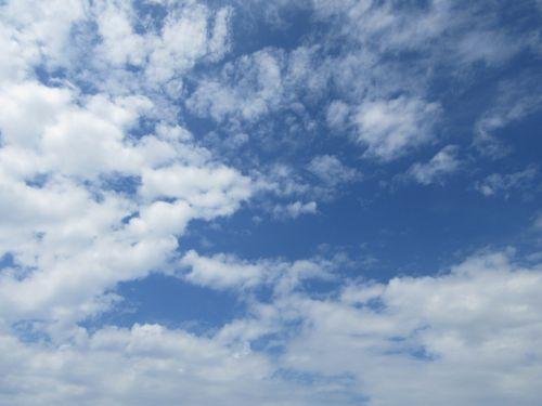 blue sky clear skies cloud