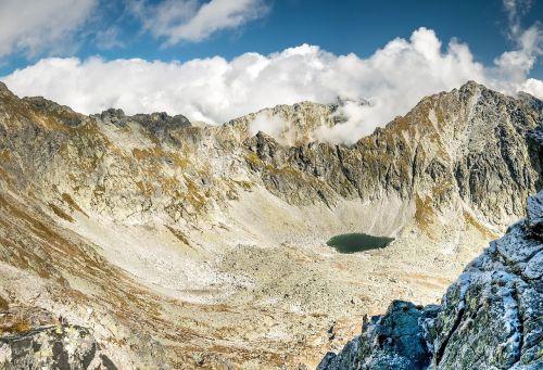blue sky mountains tatry