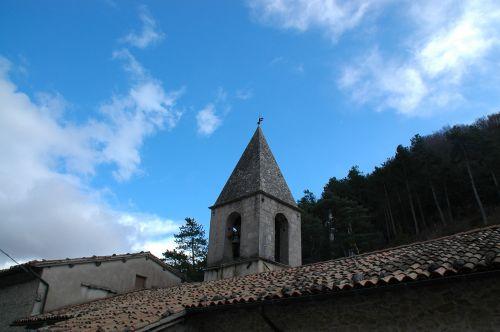 blue sky campanile roof