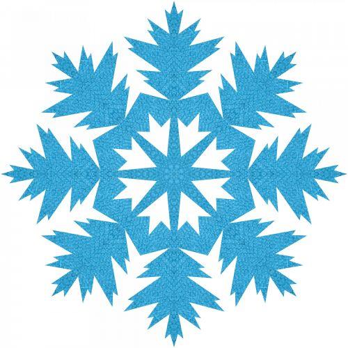 Blue Snowflake 2