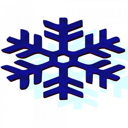 Blue Snowflake 3