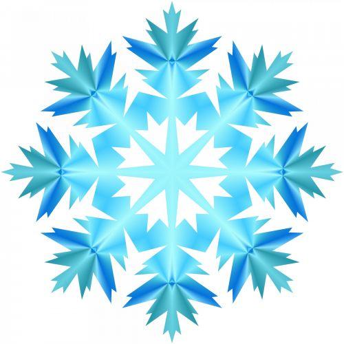 Blue Snowflake 911