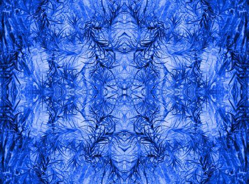 Blue Spiky Pattern