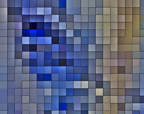 Blue Squares Mosaic Background