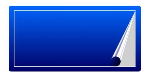 blue sticker blue sticker