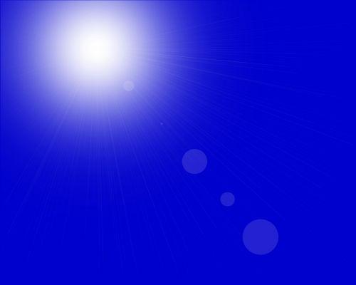 Blue Sunburst