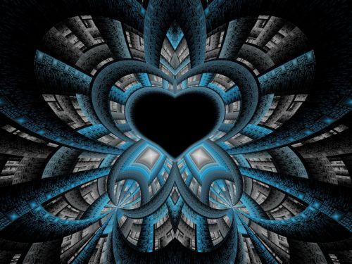 Blue Tech Heart