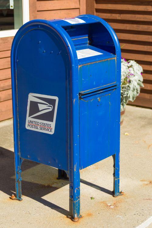 Blue US Mailbox